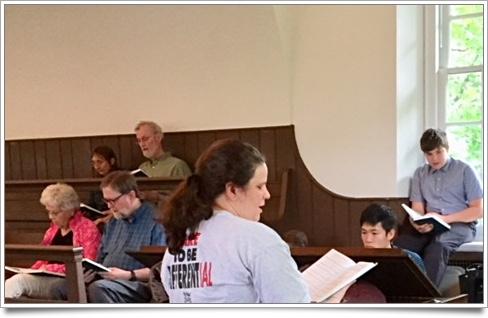 Waterhouse leading hymn sing